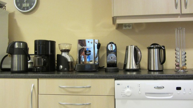 Kaffeutstyr hos Cathwell - 2010