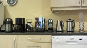 Téthermos, Kaffetrakter, Kaffekvern, Putekaffemaskin, Kapselkaffemaskin, Tevannkoker, Kaffethermos