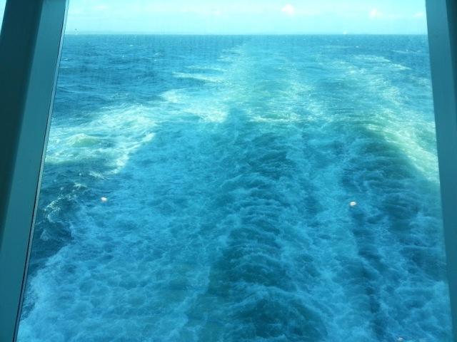 Jeg syns dette minte litt om kjølvannet etter båten min