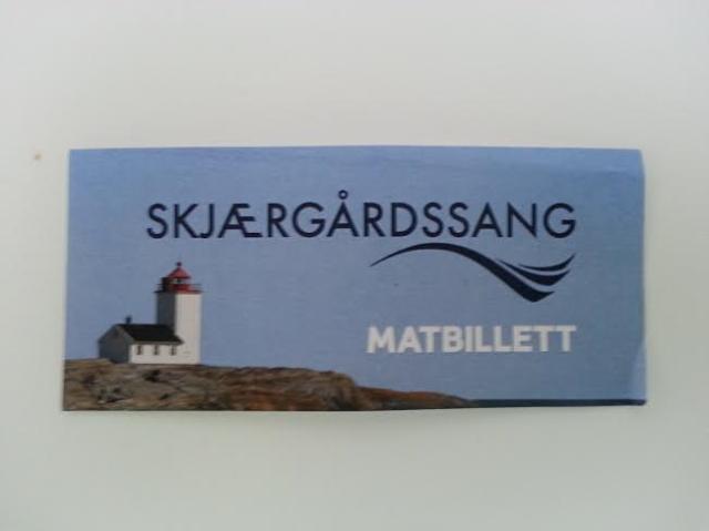 Matbillett Skjærgårdssang