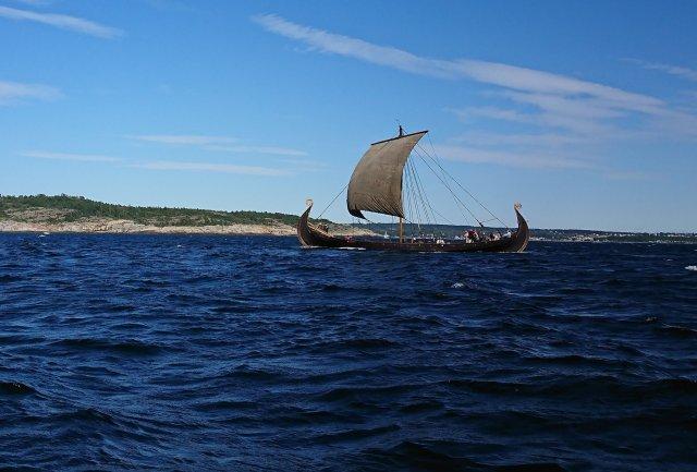 Vikingskip utenfor Gjeterøya, Gamle Langesund